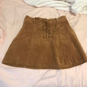 Tan skirt from Show Po